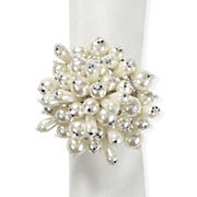 Pearl Cluster Napkin Ring - Set of 4