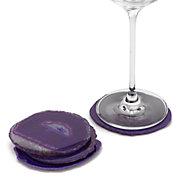 Agate Coaster - Aubergine Set of 4
