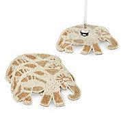 Beaded Elephant Coaster - Set of 4
