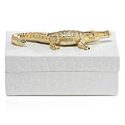 Embossed Crocodile Box