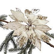 Beaded Poinsettia Ornament