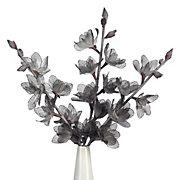 Linen Hollyhock Branch - Set of 3