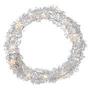 Ice Crystal LED Wreath