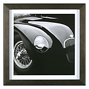 Jaguar C-Type Framed Black and White Photograph