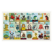 Alphabet Zoo White Framed Art Print