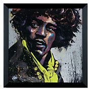Hues of Hendrix Framed Art Poster by David Garibaldi