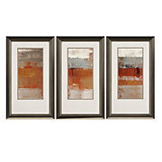 Mandarin Sunset - Set of 3