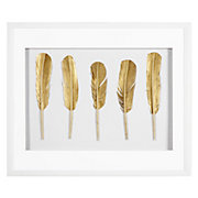 Gold Feathers Shadowbox