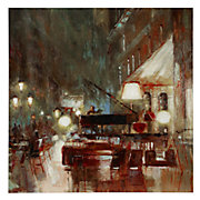 Piano Bar Framed Canvas Art