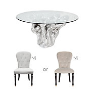 Chic Combo - Sequoia Dining Table + 4 Waterloo Dining Chairs