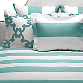 Hampton Stripe Bedding - Aquamarine