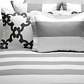 Hampton Stripe Bedding - Grey