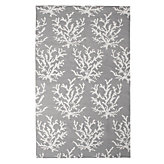 Sea Coral Dhurrie Rug - Fog