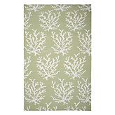 Sea Coral Dhurrie Rug - Green