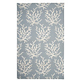Sea Coral Dhurrie Rug - Venetian Blue