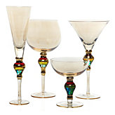 Majestic Stemware - Sets of 4 - Amber