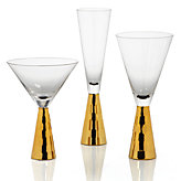 Midas Stemware - Sets of 4 - Gold
