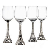 Eiffel Tower Goblets - Set of 4