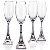 Eiffel Tower Flutes - Set of 4