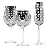 Montecito Stemware - Sets of 4 - Silver