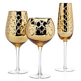 Montecito Stemware - Sets of 4 - Gold
