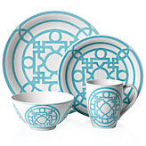 Labyrinth Dinnerware - Sets of 4 - Aquamarine
