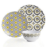 Perspective Dinnerware - Sets of 4 - Lemon