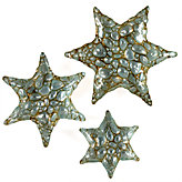 Pebble Starfish Plates - Antique Turquoise