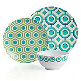 Perspective Dinnerware - Sets of 4 - Aquamarine