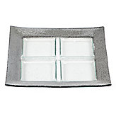 Luxe Square Serving Tray - Silver