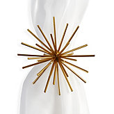 Spike Napkin Ring - Set of 4 - Gold