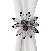 Floret Napkin Ring - Set of 4 - Charcoal