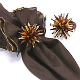 Starburst Napkin Ring - Set of 4 - Copper