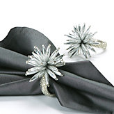 Starburst Napkin Ring - Set of 4 -Silver