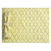 Layla Placemat - Set of 4 - Lemon