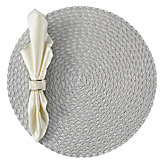 Silver Braided Placemat - Set of 4