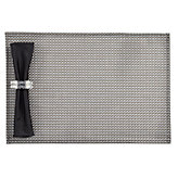 Weave Placemat - Set of 4 - Steel