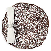 Twisted Twine Placemat - Set of 4 - Chocolate