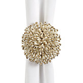 Pearl Starburst Napkin Ring - Set of 4
