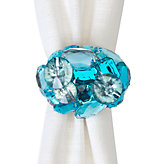 Bejeweled Napkin Ring - Set of 4 - Aquamarine