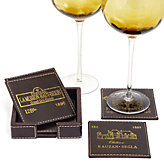 Bordeaux Coasters - Set of 4