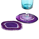 Agate Coaster - Set of 4 - Aubergine