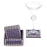 Everglades Coaster Set - Eggplant