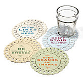 Indelicate Doilies Coasters