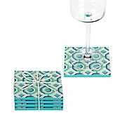 Perspective Coaster Set - Aquamarine