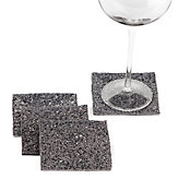 Beaded Coasters - Set of 4 - Charcoal
