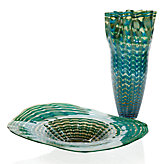 Ortana Plate & Vase - Blue/Green