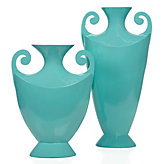 Scroll Vase - Aquamarine