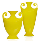 Scroll Vase - Lemon