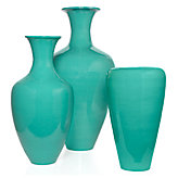 Lacquer Vases - Aquamarine